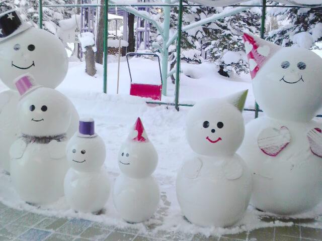冬の雪だるま